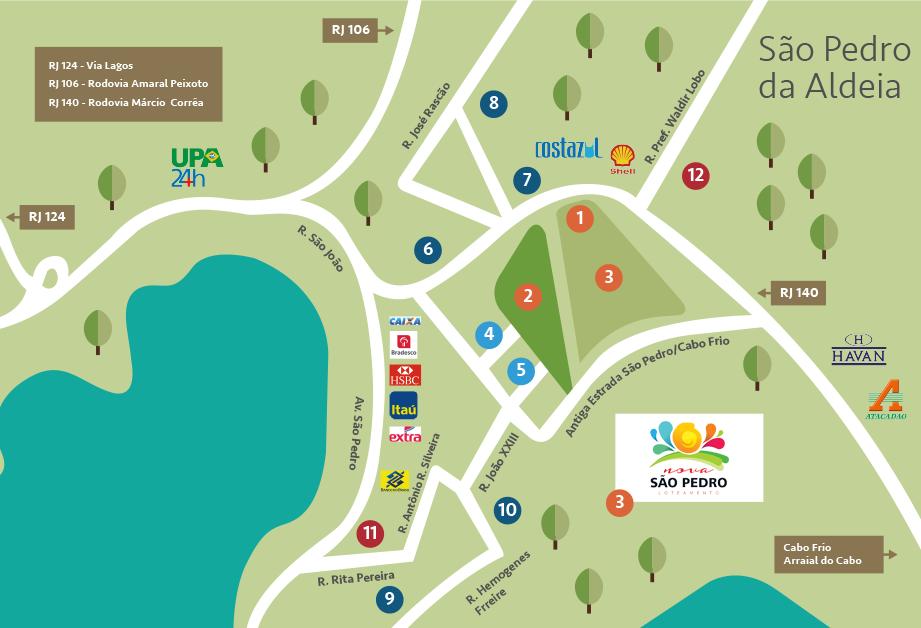 Mapa Nova São Pedro